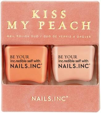 Nails Inc Kiss My Peach Nail Polish Duo