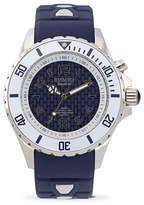 Kyboe! Power Analog Stainless Steel Marine Voyager Silicone Strap Watch