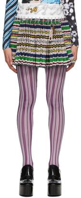 Chopova Lowena Multicolor Sato Wool Miniskirt