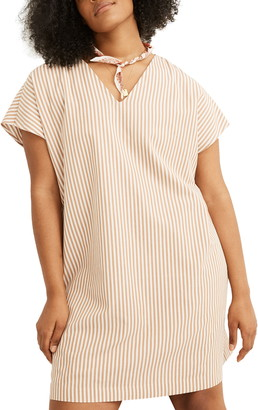 Madewell Stripe Button Back Easy Dress