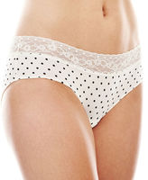 JCPenney Ambrielle Lace-Trim Microfiber Hipster Panties