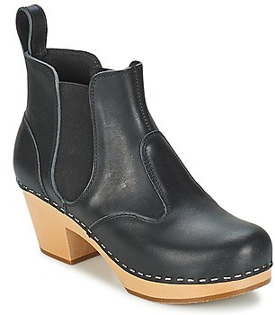 Swedish Hasbeens CHELSEA women's Low Ankle Boots in Black