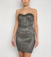 New Look NaaNaa Glitter Bandeau Bodycon Dress