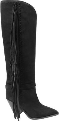 Isabel Marant Fringe-trimmed Suede Knee Boots