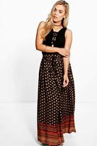 Boohoo Plus Stacey Printed Woven Maxi Skirt multi