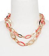Anne Klein Chain Link Multi-Strand Necklace