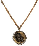 Lulu Frost Studded Floral Engraved Pendant Necklace
