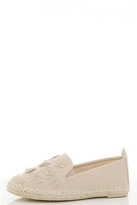 Quiz Nude Diamante Flower Espadrilles