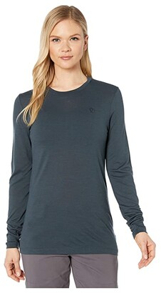 Fjallraven Abisko Wool Long Sleeve (Dark Navy) Women's Clothing