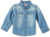 Levi's s Baby Boys 12-24 Months Barstow Denim Western Shirt