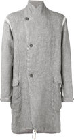 Transit - double breasted coat - men - Linen/Flax - M