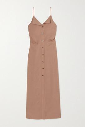 Nanushka Paz Open-back Woven Midi Dress - Light brown