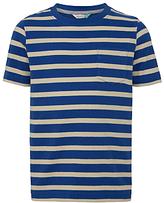 John Lewis Boys' Bretton Stripe T-Shirt, Blue/White
