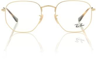Ray-Ban RX6448 Hexagonal metal glasses