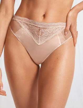 Marks and Spencer Silk & Lace High Leg Knickers