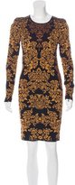 Torn By Ronny Kobo Intarsia Long Sleeve Dress
