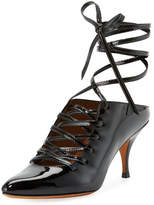 Givenchy Patent Lace-Up 80mm Pump, Black