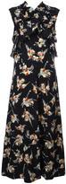 Marni printed ruffle trim dress - women - Silk - 38