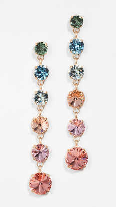 Roxanne Assoulin Technicolor Mini Crystal Drop Earrings