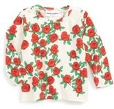 Mini Rodini Infant Girl's Rose Graphic Tee