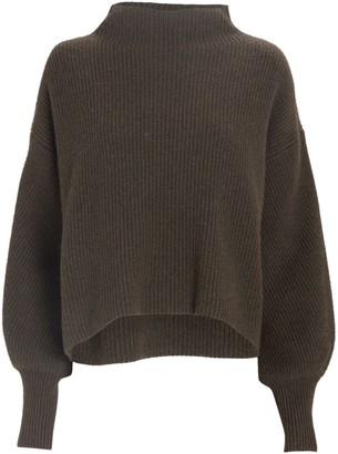 A.L.C. Helena Funnel Neck Rib Knit Sweater