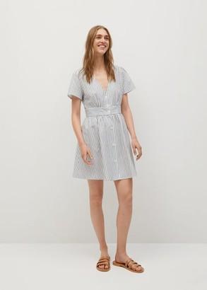 MANGO Buttons cotton dress white - 2 - Women