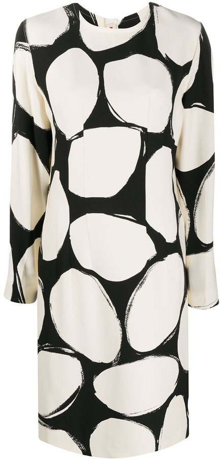 Marni Circles Print Shift Dress