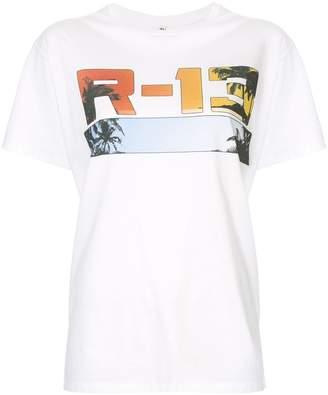 R 13 logo print T-shirt