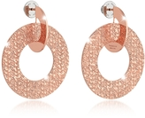 Rebecca R-Zero Rose Gold Over Bronze Drop Hoop Earrings