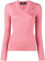 Rochas V neck knitted top