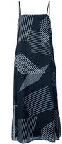 DKNY sleeveless dress with embroidered stripes