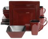 Gibson Kiesling Red 16-Pc. Dinnerware Set