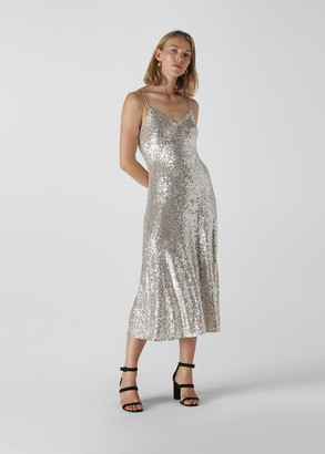 Dagma Sequin Slip Dress