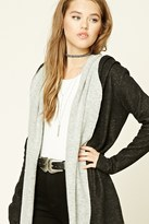 Forever 21 FOREVER 21+ Shawl Collar Hooded Cardigan