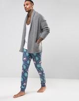 Asos Loungewear Skinny Pajama Bottoms With Flamingo Print