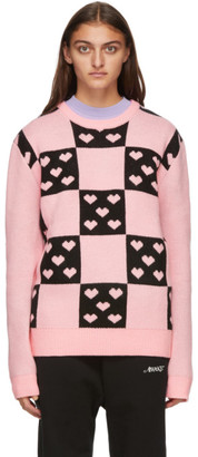 Noon Goons Pink and Black Lovers Sweater