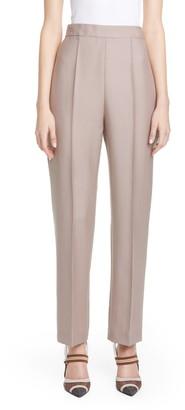 Fendi Karligraphy Mohair & Wool Straight Leg Pants