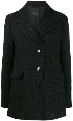 Pinko sparkle detail tweed jacket