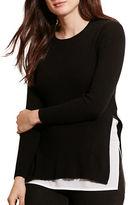 Lauren Ralph Lauren Plus Layered Cotton Sweater