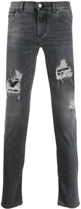 Dolce & Gabbana Distressed-Effect Skinny Jeans