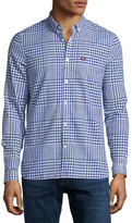 Fred Perry Large Plaid Oxford Shirt, Navy/White