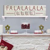"""Stratton Home Decor """"Fa La La"""" Christmas Box Wall Art"""