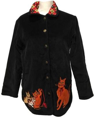 Bob Mackie Black Cotton Jacket for Women Vintage