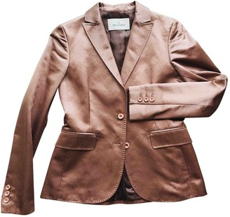 Trussardi Metallic Silk Jacket for Women