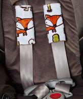 Fox & Rust Reversible Car Seat Strap Cover Set