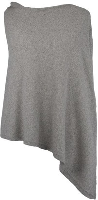 Cadenza Italy - Silver Cashmere Blend Poncho - wool   silver - Silver/Silver