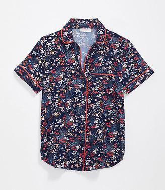 LOFT Floral Pajama Top