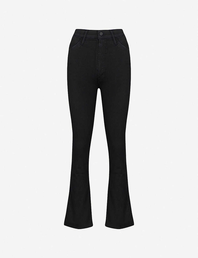 Thumbnail for your product : Mother Hustler Ankle Fray flared high-rise jeans