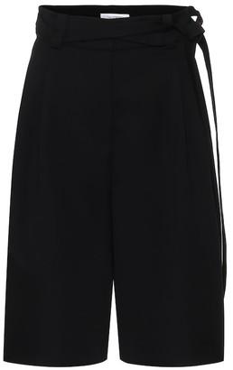 Valentino High-rise virgin wool Bermuda shorts