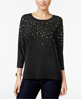 JM Collection Petite Grommet Dolman Top, Only at Macy's